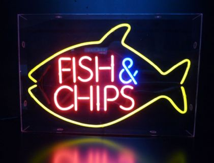 Fish and Chips Neon Sign